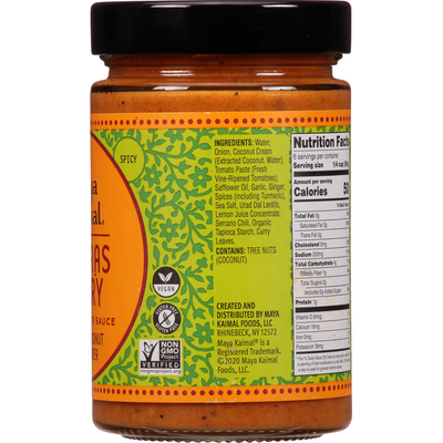 Maya Kaimal Indian Simmer Sauce, Madras Curry, Spicy
