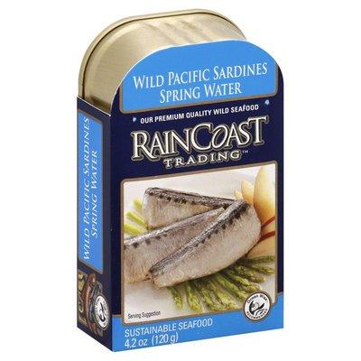 Rain Coast Trading Sardines, Wild Pacific, Spring Water