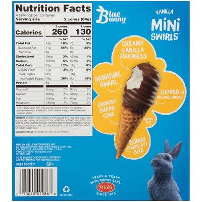 Blue Bunny Mini Swirls Vanilla Cones