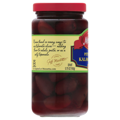 Mezzetta Kalamata Olives, Greek, Pitted
