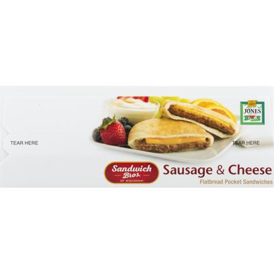Sandwich Bros. Sandwiches, Flatbread Pocket, Sausage & Cheese