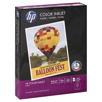 HP Paper, Color Inkjet, 24 lb