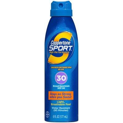 Coppertone Sport High Performance Broad Spectrum SPF 30 Sunscreen Spray