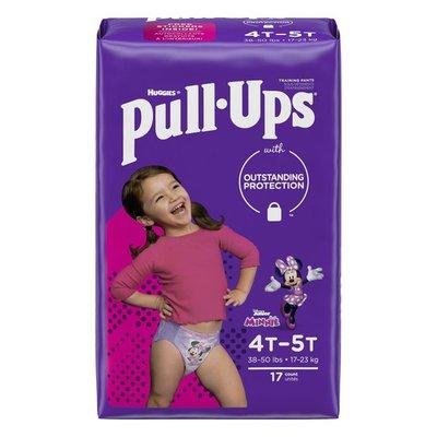 Pull-Ups Girls' Potty Training Pants Size 6, 4T-5T