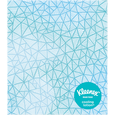 Kleenex Cooling Lotion Facial Tissue Cube Box