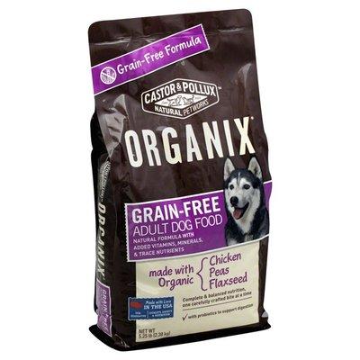 Organix Grain Free, Adult Dog Food, Chicken Peas Flaxseed, Bag