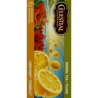 Celestial Seasonings Lemon Zinger Caffeine Free Herbal Tea