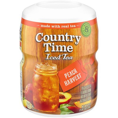 Country Time Peach Harvest Iced Tea Naturally Flavored Powdered Drink Mix