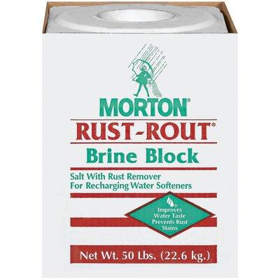 Morton Rust-Rout Salt W/Rust Remover Brine Block