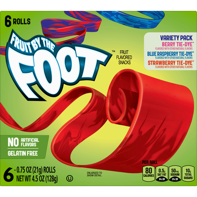 Fruit by the Foot Fruit Flavored Snacks, Assorted, Variety Pack