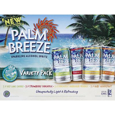 Palm Breeze Alcohol Spritz, Sparkling, Variety Pack