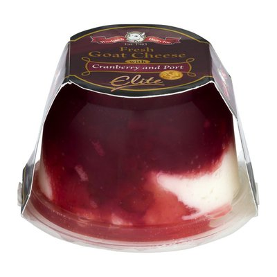 Woolwich Dairy Inc. Fresh Goat Cheese Cranberry and Port