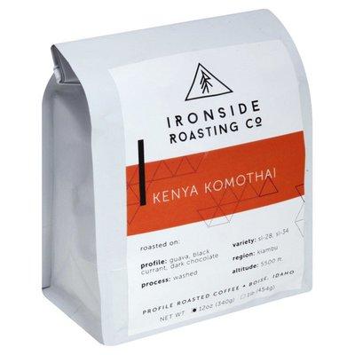 Ironside Roasting Co Coffee, Whole Bean, Profile Roasted, Kenya Komothai