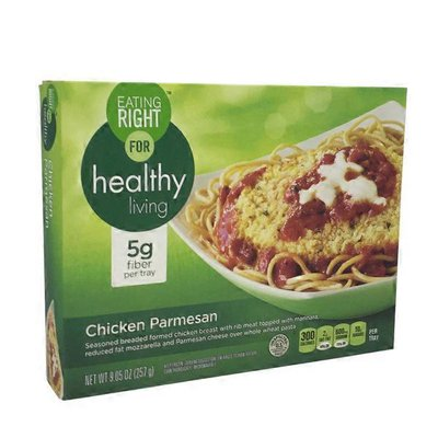 Signature Select Classics Chicken Parmesan Breaded White Meat Chicken With Marinara Sauce, Reduced Fat Mozzarella And Parmesan Cheeses And Whole Wheat Pasta