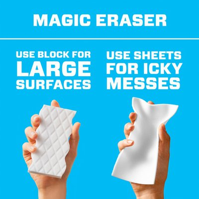 Mr. Clean Cleaning Sheets, the power of a Magic Eraser in a thin, flexible, disposable sheet