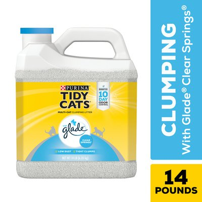 Purina Tidy Cats Clumping Cat Litter, Glade Clear Springs Multi Cat Litter