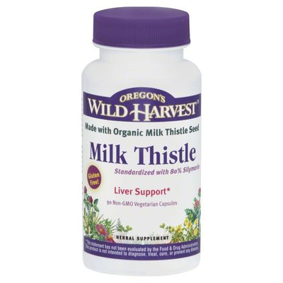 Oregons Wild Harvest Milk Thistle, Non-GMO Vegetarian Capsules