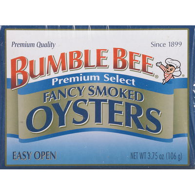 Bumble Bee Oysters, Fancy Smoked