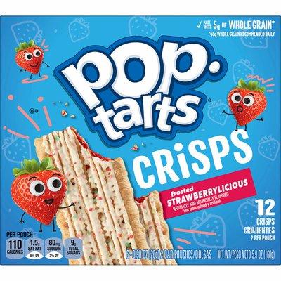 Kellogg's Pop-Tarts Crisps Baked Snack Bars, Breakfast Snacks, Strawberrylicious