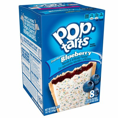 Kellogg's Pop-Tarts Toaster Pastries, Breakfast Foods, Baked in the USA, Frosted Blueberry