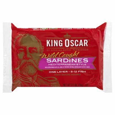 King Oscar Sardines in Olive Oil Mediterranean Style