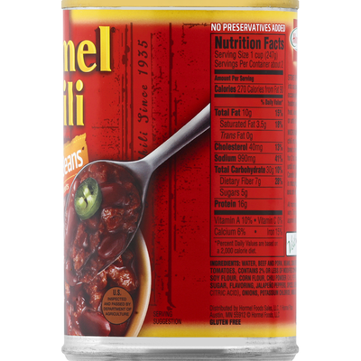 Hormel Chili, with Beans, Hot
