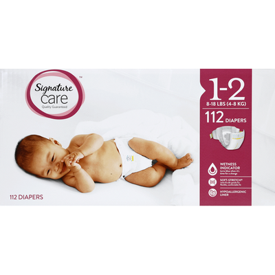 Signature Diapers, 1-2 (8-18 lbs)