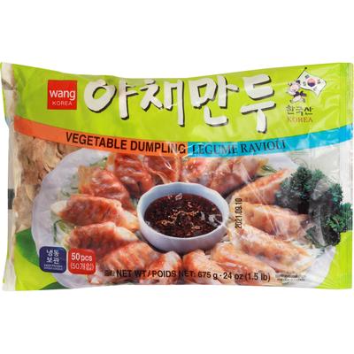 Wang Korea Vegetable Dumpling, Legume Ravioli, 50 Pcs