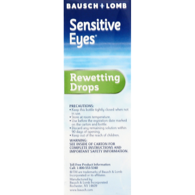 Bausch & Lomb Genuine Sensitive Eyes Rewetting Drops