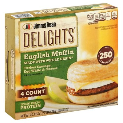 Jimmy Dean Delights Turkey Sausage, Egg White & Cheese English Muffin Breakfast Sandwiches