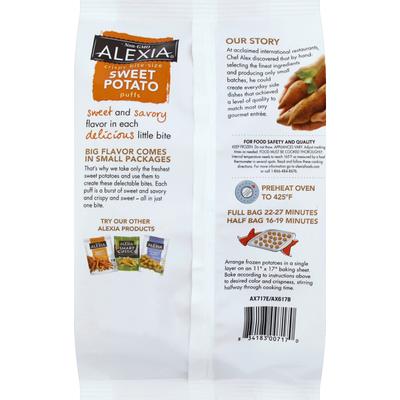 Alexia Puffs, Sweet Potato, Crispy, Bite-Size