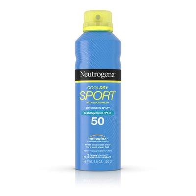 Neutrogena® Cooldry Sport Spray Broad Spectrum SPF 50