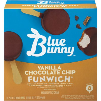 Blue Bunny Vanilla Chocolate Chip Funwich Ice Cream Bar