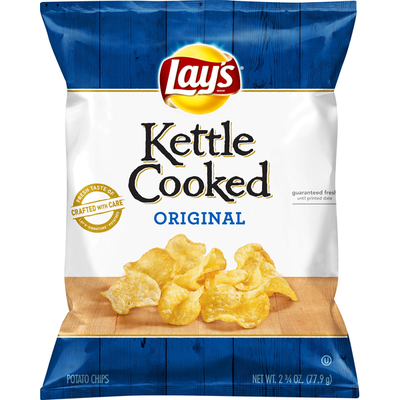 Lay's Potato Chips, Original, Kettle Cooked