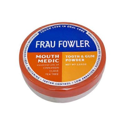 Frau Fowler Mouth Medic Tooth & Gum Powder, Cinnamon, Clove, Tea Tree