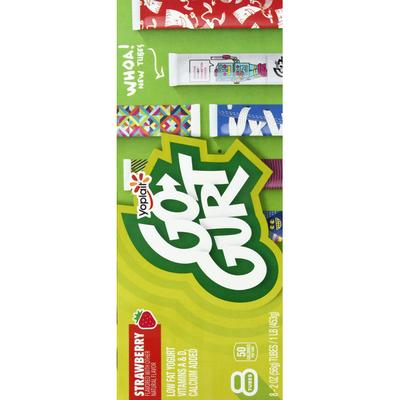 Go-Gurt Yogurt, Low Fat, Strawberry