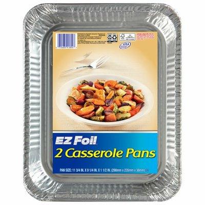 EZ Foil 11-3/4 x 9-1/4 x 1-1/2 in. Casserole Pans