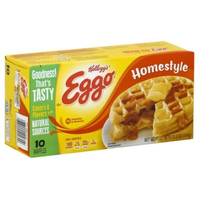Eggo Frozen Waffles, Homestyle, Easy Breakfast