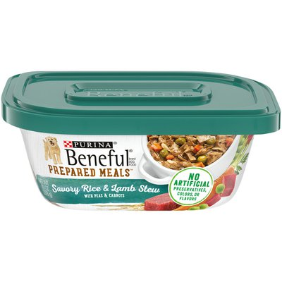 Purina Beneful High Protein Wet Dog Food With Gravy, Prepared Meals Savory Rice & Lamb Stew