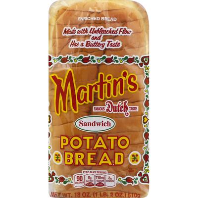 Martin's Bread, Potato, Sandwich