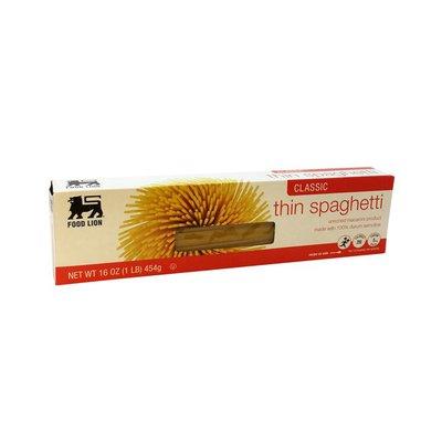 Food Lion Spaghetti, Thin, Classic, Box