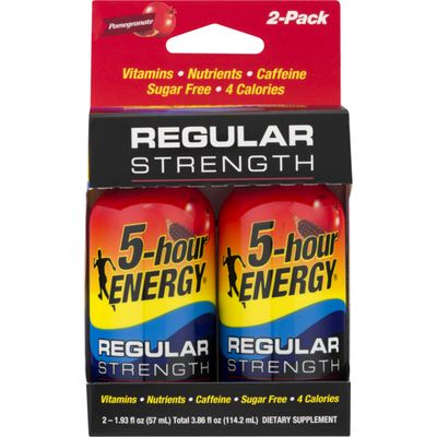 5-hour ENERGY Dietary Supplement Regular Strength Pomegranate