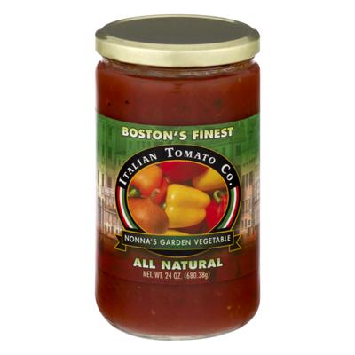 Italian Tomato Co. All Natural Pasta Sauce Nonna's Garden Vegetable