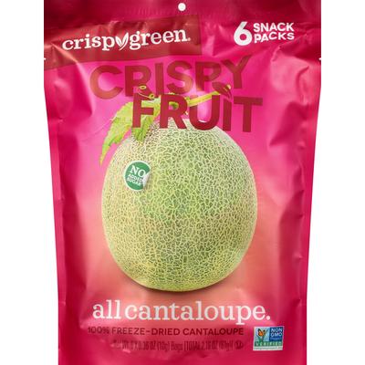 Crispy Green Crispy Fruit, All Cantaloupe, 6 Snack Packs