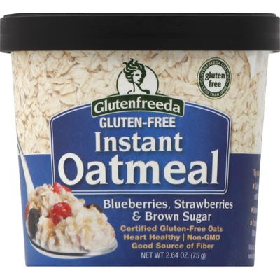 Glutenfreeda Oatmeal, Instant, Gluten Free, Blueberries, Strawberries & Brown Sugar