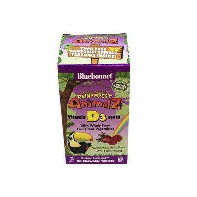 Blue Bonnet Super Earth Rainforest Animalz Vitamin D3 400 Iu Dietary Supplement, Mixed Berry