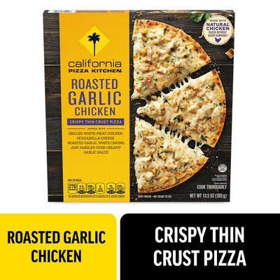 California Pizza Kitchen Roasted Garlic Chicken Crispy Thin Crust Frozen Pizza