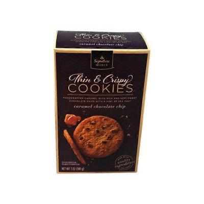 Signature Kitchens Caramel Chocolate Chip Thin & Crispy Cookies