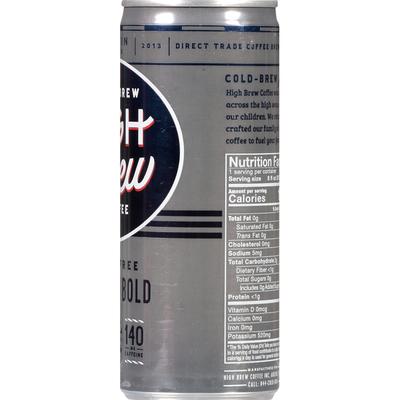 High Brew Cold-Brew Coffee Dairy Free Black & Bold