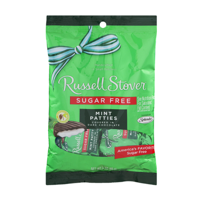 Russell Stover Chocolate Candy, Sugar Free, Mint